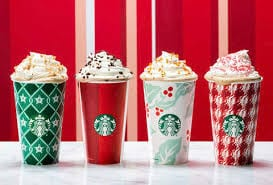 Holiday drinks and Treats at Starbucks