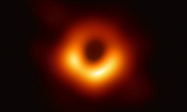 Astronomers capture first image of a black hole.