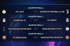 Champions League quarter finals have began today.