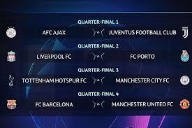 Champions League quarter finals have began today.