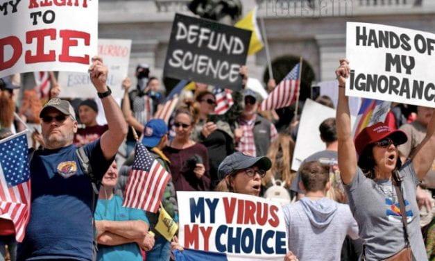 Quarantine protesters