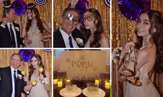 Parents held a prom for two during this pandemic
